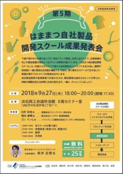 9/27 第5期 はままつ自社製品開発スクール成果発表会
